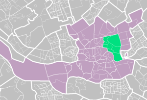 Kralingen-Crooswijk - Kralingen-Crooswijk (light green) within Rotterdam (purple).