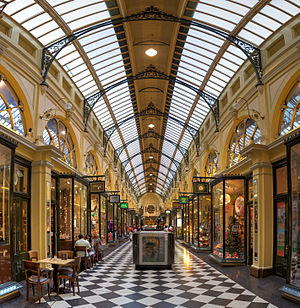 Royal Arcade, Melbourne - View south down the arcade