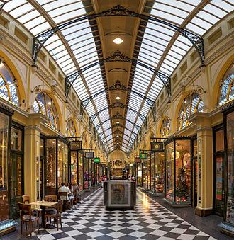 Royal Arcade, Melbourne - View south down the arcade
