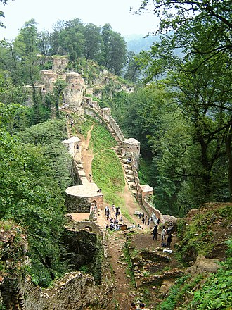 Assassins - Rudkhan Castle in the Alborz mountain range - Iran