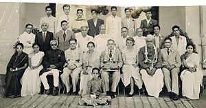 H. Narayan Murthy - bottom row (sitting) L-R: 3rd-M.V.Gopalaswamy, 4th-S. Srikanta Sastri