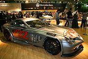 The SLR 722 GT test car on display.