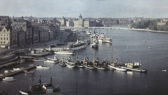 1928 in Sweden - Stockholms' panorama in 1928