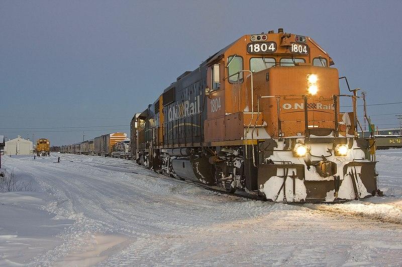Polar Bear Express train in north Ontario, Canada