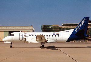 KLM Cityhopper Flight 433 - Image: Saab 340B, KLM Cityhopper AN0230171