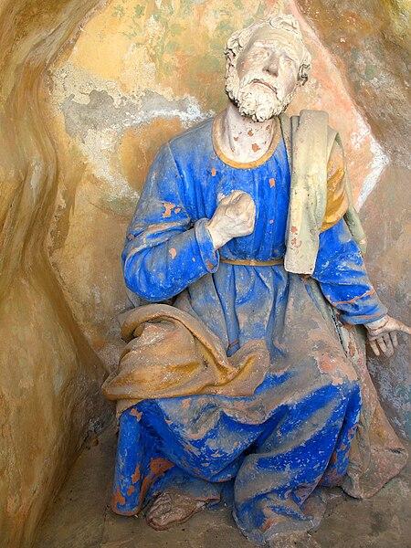 Immagine:Sacro Monte di Varallo-Cappella XXVI-Il pentimento di san<br /><br /><br /><br /><br /><br /><br /><br /><br /><br /><br /><br /><br />  Pietro.JPG