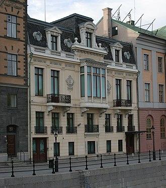 Sager House - South facade, facing the Norrström river.