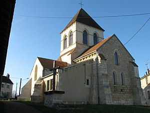 Chevenon - The church of Saint-Martin, in Chevenon