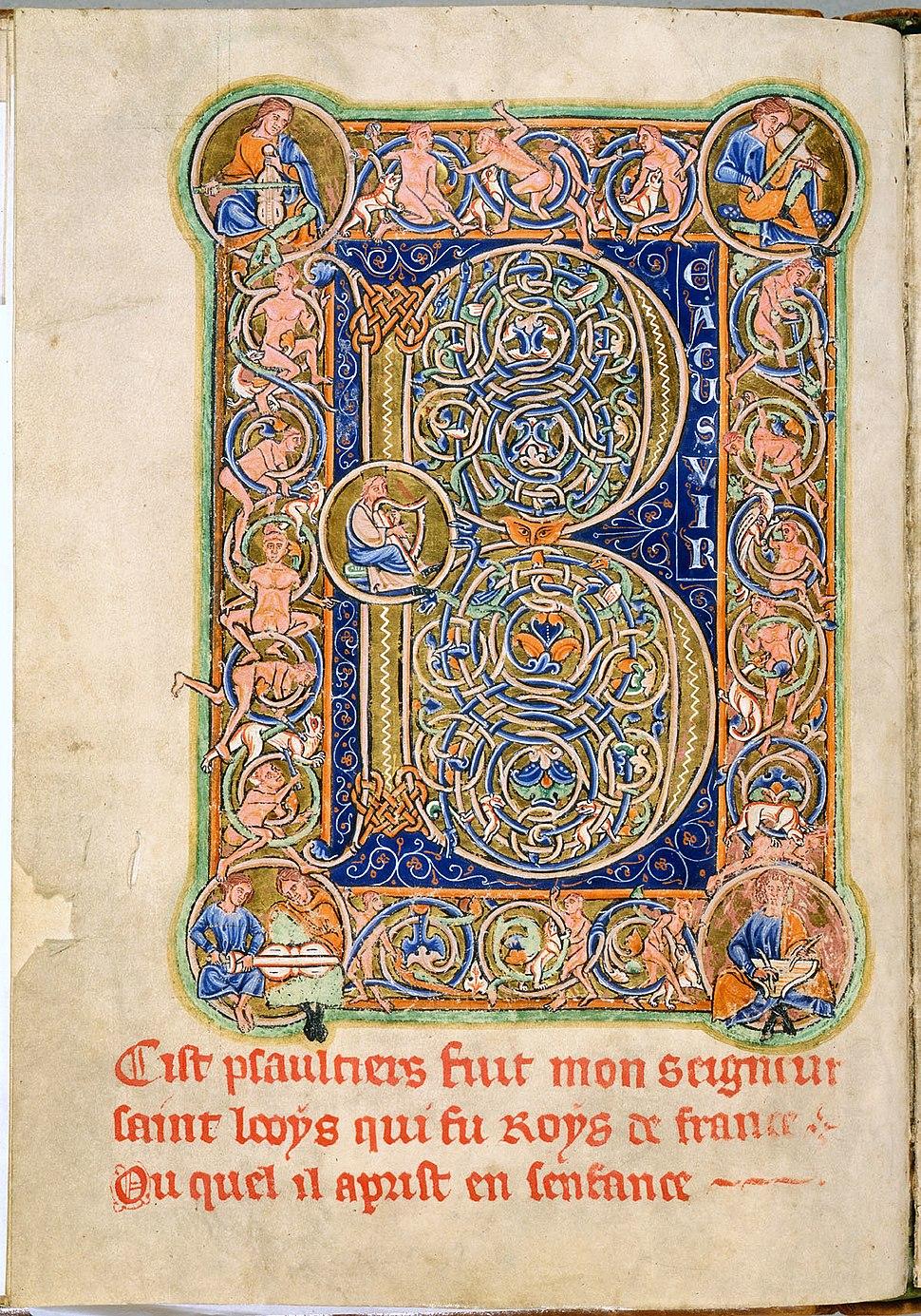 Saint Louis Psalter 30 verso