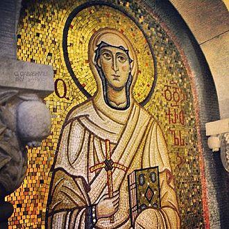 Saint Nino - A mosaic in Samtavro Monastery, Mtskheta