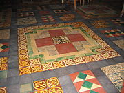 Floor of the cathedral