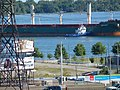 Salty freighter Brant approaching the Redpath sugar refinery - panoramio (1).jpg