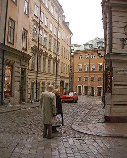 Salviigränd street in Gamla stan, Stockholm, Sweden