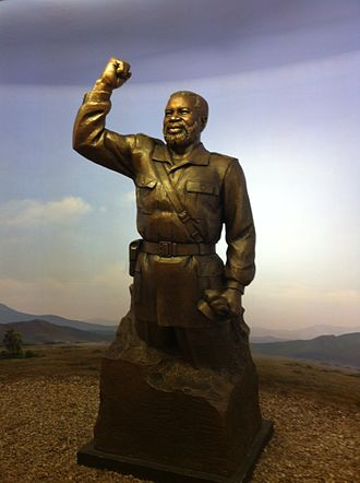 Sam Nujoma - Sam Nujoma statue in the Independence Memorial Museum