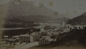Samedan - Another photographic view of Samedan in the circa 1870s.