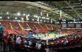 Palacio Municipal de Deportes San Pablo - Image: San Pablo Sevilla Basket cropped
