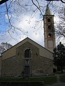 La chiesa di San Giovanni Battista nell'omonima frazione