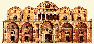 St Mark's Basilica - Original facade of St. Mark's Basilica