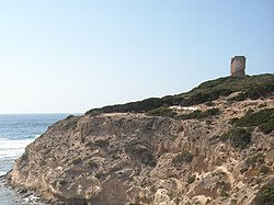The tower of Cape Mannu