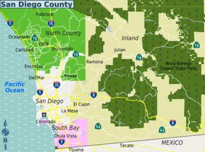 north county san diego map