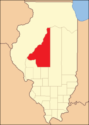 Sangamon County, Illinois - Image: Sangamon County Illinois 1821