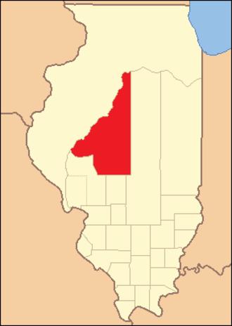Sangamon County, Illinois - Image: Sangamon County Illinois 1821