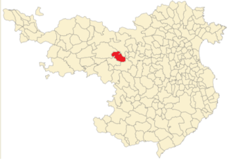 Sant Joan les Fonts - Location of Sant Joan les Fonts in the province of Gerona.