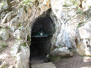 Biscay - Entrance of Santimamiñe cave, in Busturialdea.