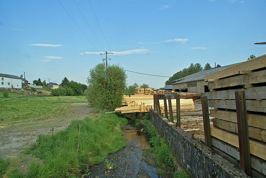 Vaux-sur-Sûre,  Belgium: The sawmill at the right bank of the river Sauer