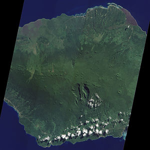 Savai'i - Savai'i volcano, as seen from the NASA Earth Observatory, 2010