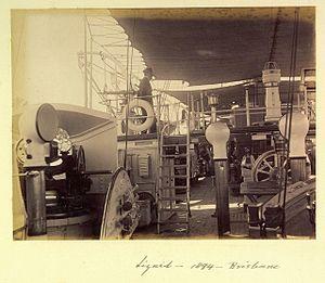 Scene aboard HMS Lizard Brisbane 1894.jpg