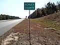 Schley County border, US19SB.JPG