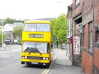 Blackburn Bus Company - Eastern Coach Works bodied Leyland Olympian in Lancashire United's school bus livery in Darwen