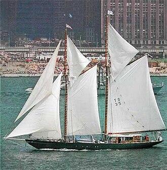 Schooner - A traditional gaff topsail schooner