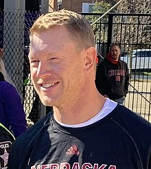Scott Frost in Black Nebraska Shirt (cropped).jpg