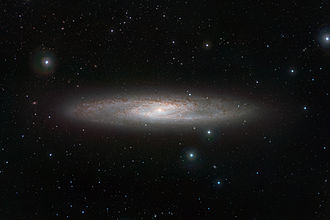 Sculptor Galaxy - The Sculptor Galaxy taken with the ESO VISTA Telescope at the Paranal Observatory in Chile