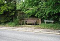 Seat beside Sandhole Road - geograph.org.uk - 820344.jpg