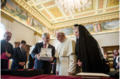 Sebastian Pinera's trip in Vatican - Franciscus and Pinera with Cecilia Morel.png