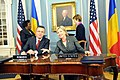 Secretary Clinton and Romanian Foreign Minister Sign Agreements (3583832952).jpg