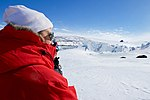 Secretary Kerry Looks at the Weddell Seals Basking in the sun on the ice Outside Scott Base in the Antarctic (30812064522).jpg