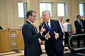 Secretary of defense chats with secretary of state for defense 151009-D-LN567-076.jpg