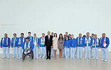 Seeing-off ceremony for Azerbaijani sportsmen to represent the country at the London 2012 Summer Olympic Games 8.jpg