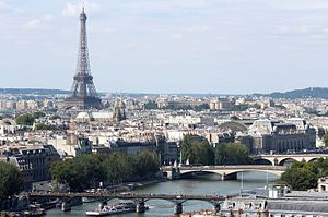 Paris - Image: Seine and Eiffel Tower from Tour Saint Jacques 2013 08