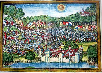 Battle of Sempach - Depiction of the battle in the Luzerner Schilling (1513)
