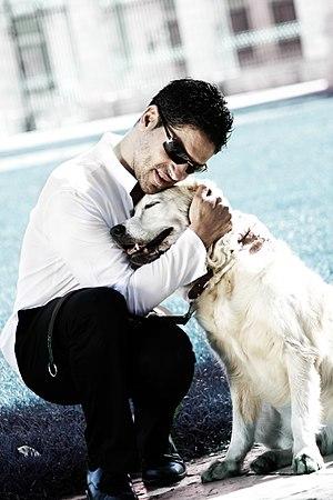 Serafín Zubiri - Serafín Zubiri with his guide dog, Xifo