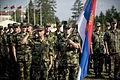 Serbian military members at Kozara Barracks Banja Luka.jpg