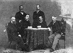Serbian writers Sremac Nušić Glišić Veselinović.jpg