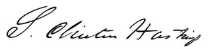 Serranus Clinton Hastings - Image: Serranus Hastings signature