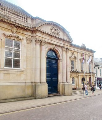 Northampton - Sessions House was one of the first buildings built after the Great Fire of Northampton (1675)