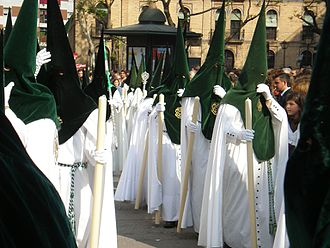Capirote - Brotherhood of Saint Rochus with velvet capirotes